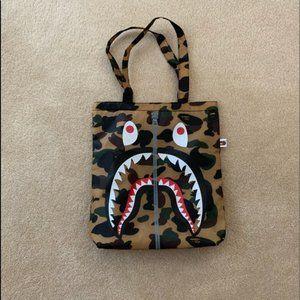 Bape A Bathing Ape Shark Face Camo Bag
